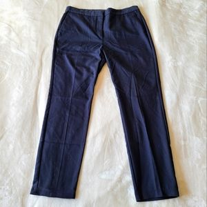 Zara Navy High Rise Ankle Pant